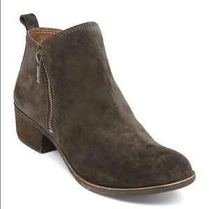Lucky brand green suede booties